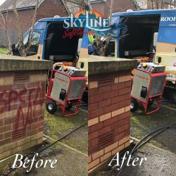 Graffiti removal birmingham before and after on brick