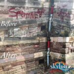 Graffiti removal birmingham before and after on heritage building