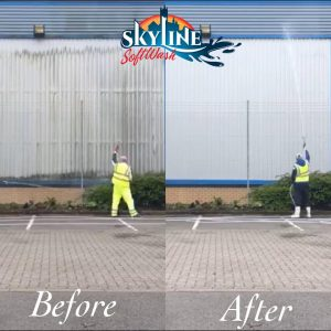 Wearhouse Cladding Cleaning in Gloucester