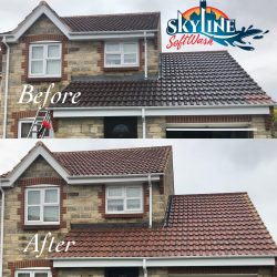 Roof cleaning in Churchdown, Gloucester