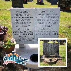 Grave Stone Cleaning Gloucestershire. Before & After