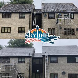 Roof cleaning, Moss removal , SoftWash treatment and sanitation in the forest of dean , Gloucestershire