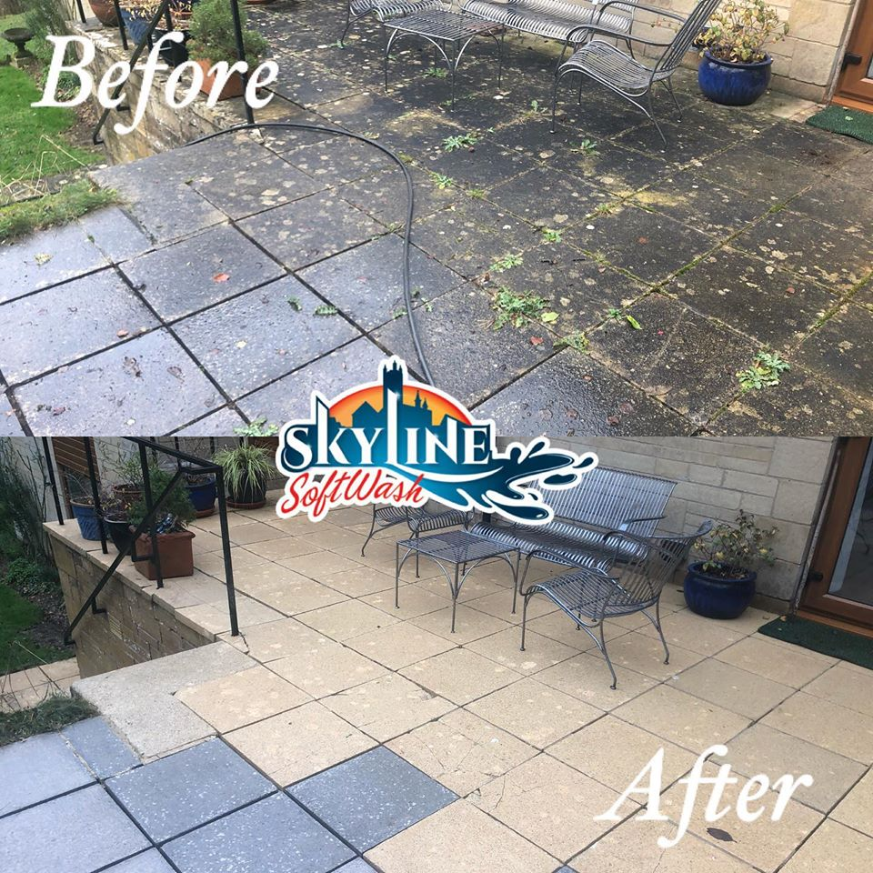 Patio Cleaning in Stroud using a SoftWash System