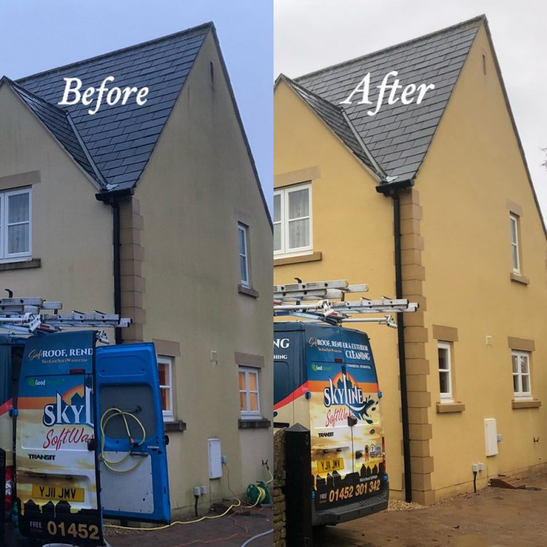 Commercial render cleaning in Oxford