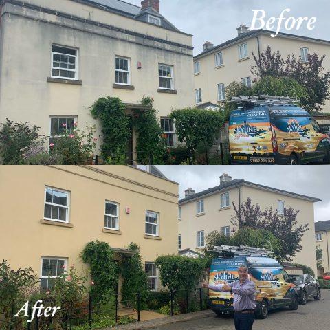 Render cleaning in Arthur Bliss Gardens, The Park, Cheltenham GL502LN
