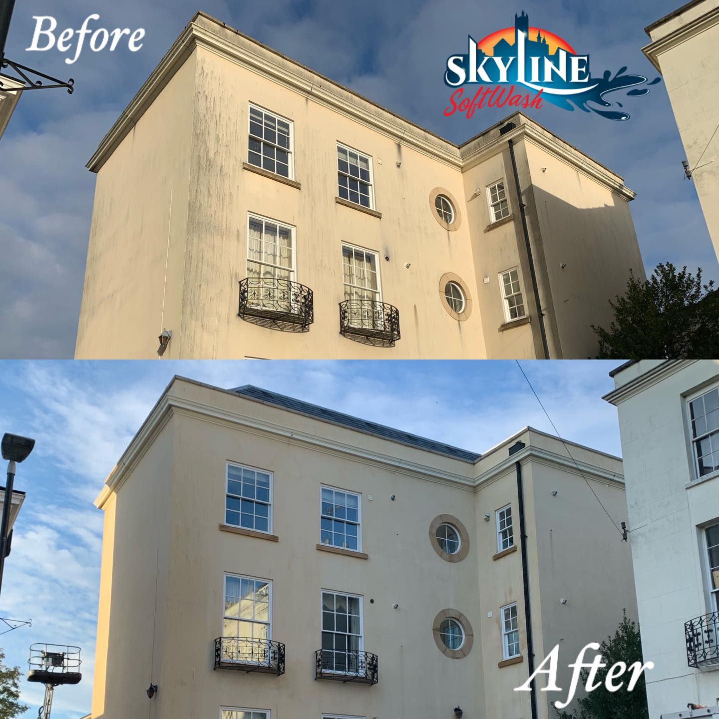 render cleaning in Brunswick Square Gloucester, GL1